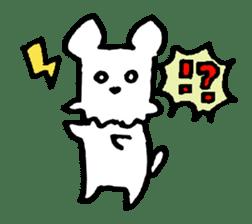 White dog sticker #667042