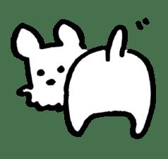 White dog sticker #667043