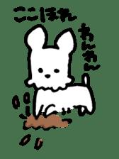 White dog sticker #667045