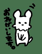 White dog sticker #667047