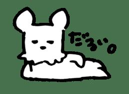 White dog sticker #667049