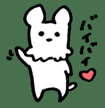 White dog sticker #667051