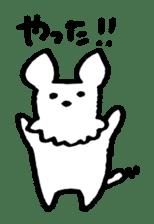 White dog sticker #667052