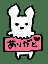 White dog sticker #667053