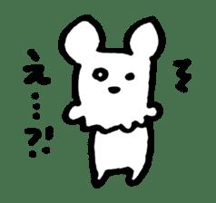 White dog sticker #667055