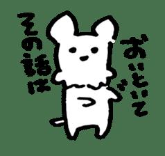 White dog sticker #667056