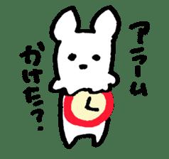 White dog sticker #667062