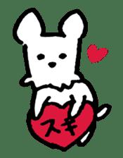 White dog sticker #667063