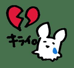 White dog sticker #667064