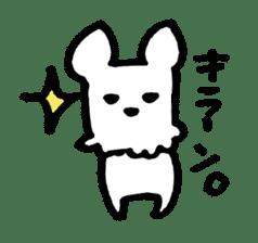 White dog sticker #667065