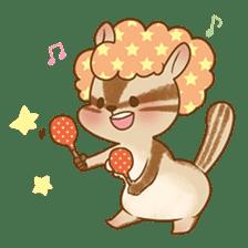 Afro Squirrel sticker #667107