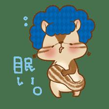 Afro Squirrel sticker #667108