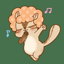 Afro Squirrel sticker #667115