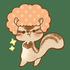 Afro Squirrel sticker #667116