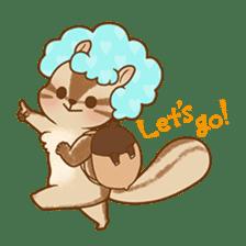 Afro Squirrel sticker #667117