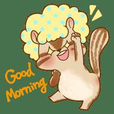 Afro Squirrel sticker #667121