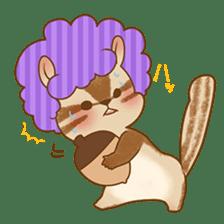Afro Squirrel sticker #667125