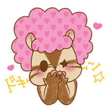 Afro Squirrel sticker #667126