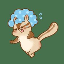 Afro Squirrel sticker #667132