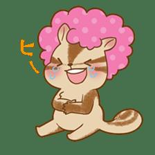 Afro Squirrel sticker #667133