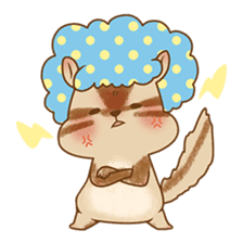 Afro Squirrel sticker #667139