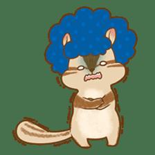 Afro Squirrel sticker #667142