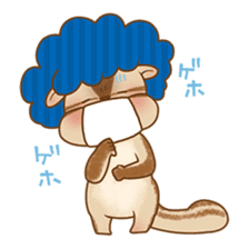 Afro Squirrel sticker #667145