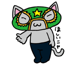 cat mask sticker #667200