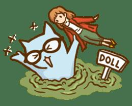 """Doll Fan """"MEGANEKO"""" sticker #669343"""
