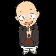 Buddhist monk sticker