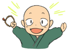 Buddhist monk sticker sticker #669599