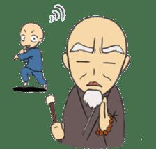 Buddhist monk sticker sticker #669617