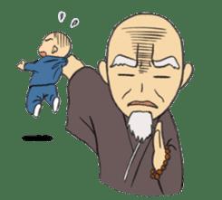 Buddhist monk sticker sticker #669618