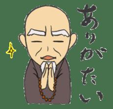 Buddhist monk sticker sticker #669623