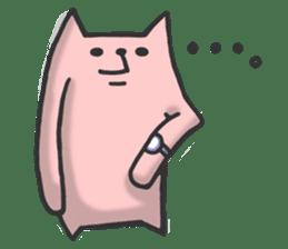 Cat of long hand sticker #670551