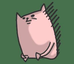 Cat of long hand sticker #670567