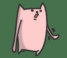 Cat of long hand sticker #670570