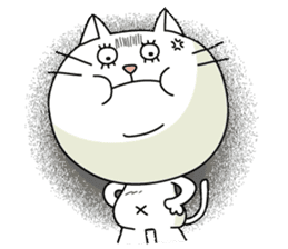 White cat Sticker sticker #671439