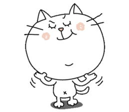 White cat Sticker sticker #671452