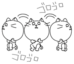 White cat Sticker sticker #671462