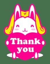 pretty rabbit sticker #672910
