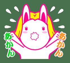 pretty rabbit sticker #672924