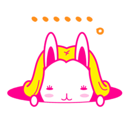pretty rabbit sticker #672927