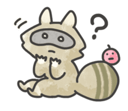 Raccoon dog TANUTAROU sticker #673437