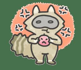 Raccoon dog TANUTAROU sticker #673442