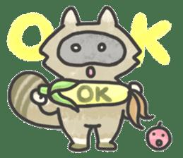Raccoon dog TANUTAROU sticker #673443