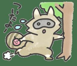 Raccoon dog TANUTAROU sticker #673447