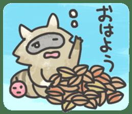 Raccoon dog TANUTAROU sticker #673454