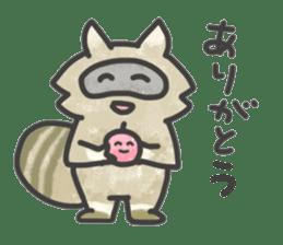 Raccoon dog TANUTAROU sticker #673455