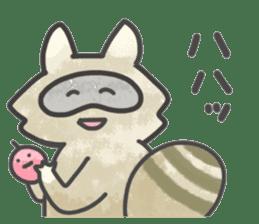 Raccoon dog TANUTAROU sticker #673457